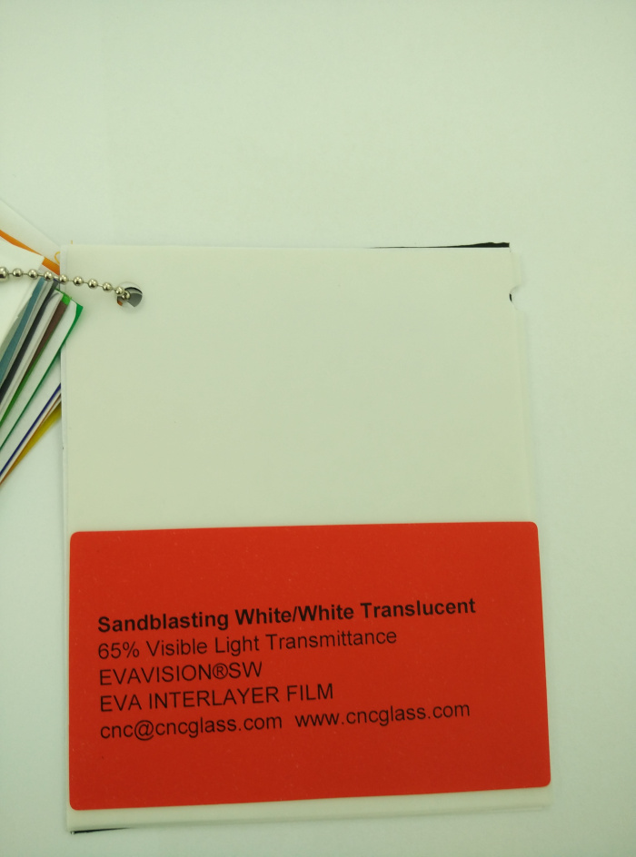 Sandblasting White Ethylene Vinyl Acetate Copolymer EVA interlayer film for laminated glass safety glazing (1)