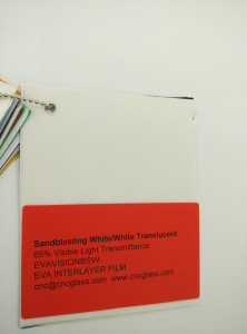 Sandblasting White Ethylene Vinyl Acetate Copolymer EVA interlayer film for laminated glass safety glazing (17)