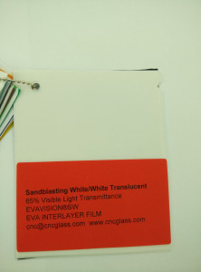 Sandblasting White Ethylene Vinyl Acetate Copolymer EVA interlayer film for laminated glass safety glazing (2)
