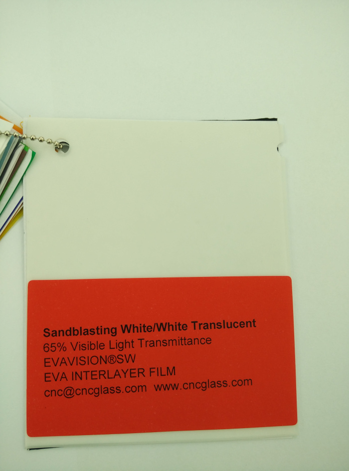 Sandblasting White Ethylene Vinyl Acetate Copolymer EVA interlayer film for laminated glass safety glazing (3)