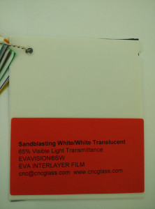 Sandblasting White Ethylene Vinyl Acetate Copolymer EVA interlayer film for laminated glass safety glazing (7)
